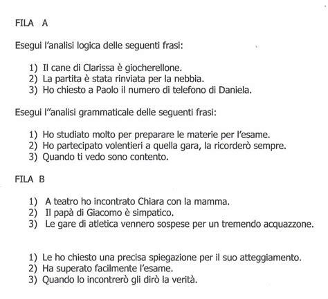 prove d ingresso prima media italiano con soluzioni verifiche finali ii quadrimestre analisi logica