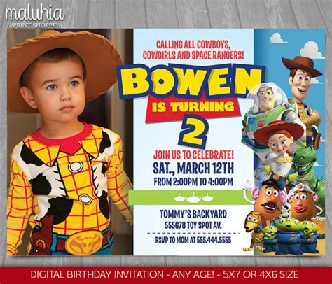 Story Bday Card Templates by Story Invitation Story Invite Disney Pixar