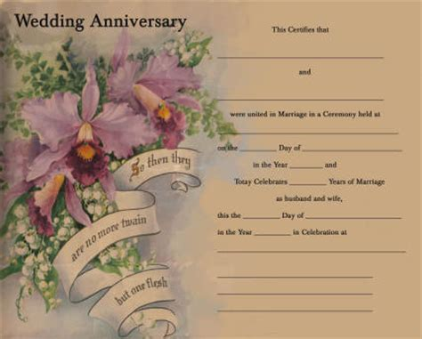 image 50th wedding anniversary certificate template