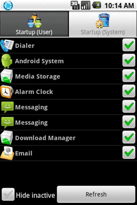 android startup manager auto starting applications on your android device or android media center knightwise