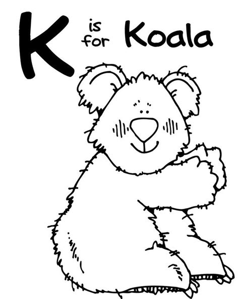 Letter K Coloring Pages For Preschoolers letter k coloring page coloring home