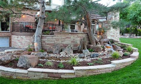 Landscape Rock Thornton Co Denver Colorado Backyard Patio Above Water Feature
