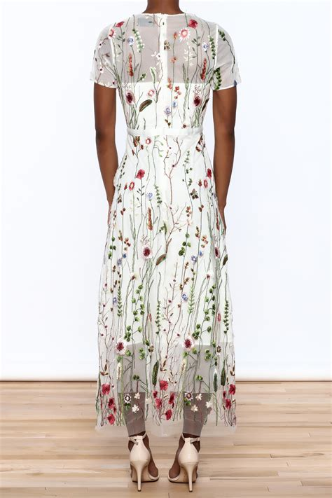 Moon Mesh Embroidered Dress From New  Ee  York Ee   City By Dor L