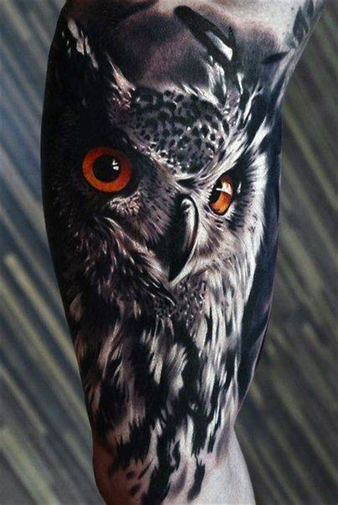 tattoo owl realistic 100 realistic tattoos for men realism design ideas