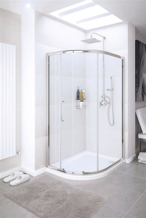 Lakes Classic Silver Single Door Quadrant Shower Enclosure Lakes Shower Doors