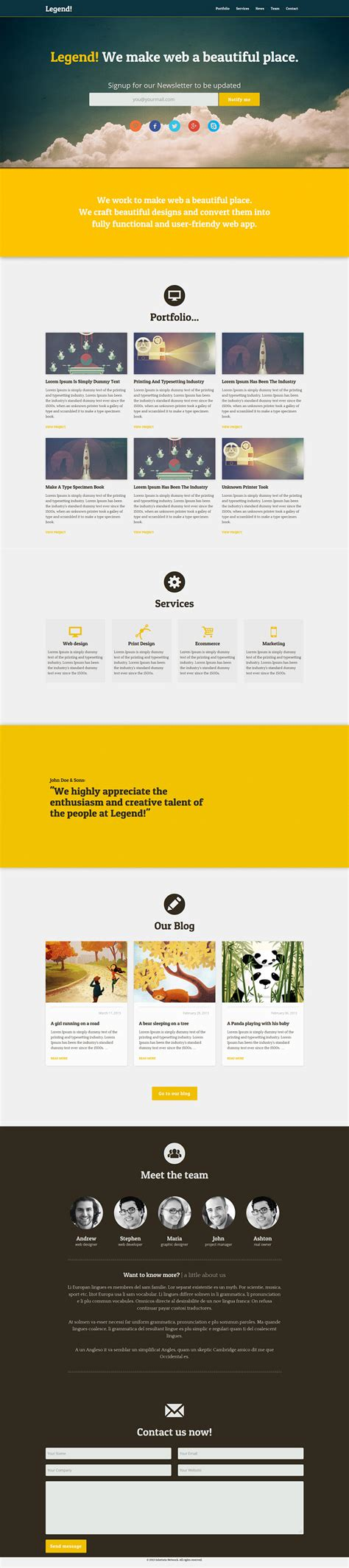 Responsive Psd Web Templates 25 Free Templates Psd Files Design Blog Web Layout Templates