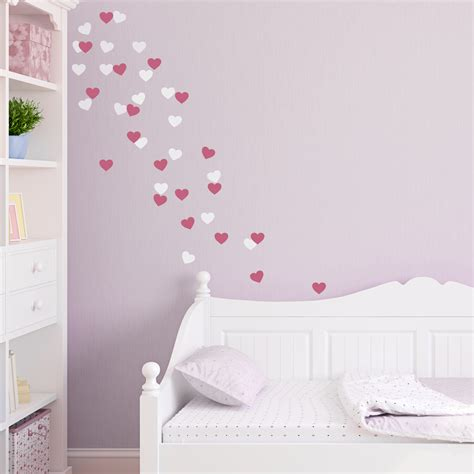 hearts wall stickers fetti wall decal