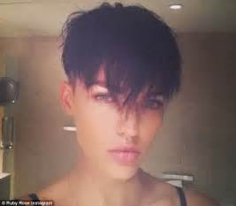 men getting feminine haircut ruby rose reveals that she had longed to undergo a female