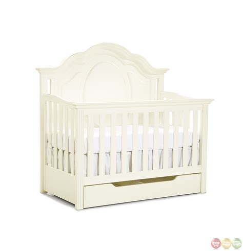 Enchantment Off White Grow With Me Convertible Crib White Convertable Crib
