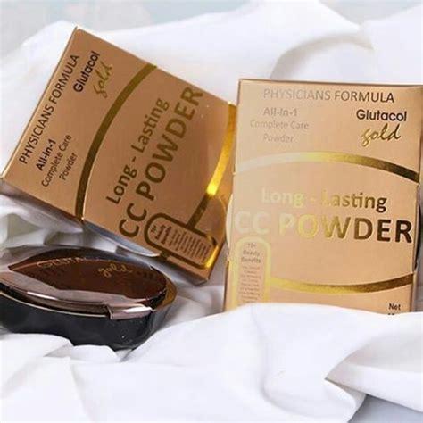 Bedak Glutacol Gold Testimoni glutacol lasting cc powder bedak glutacol