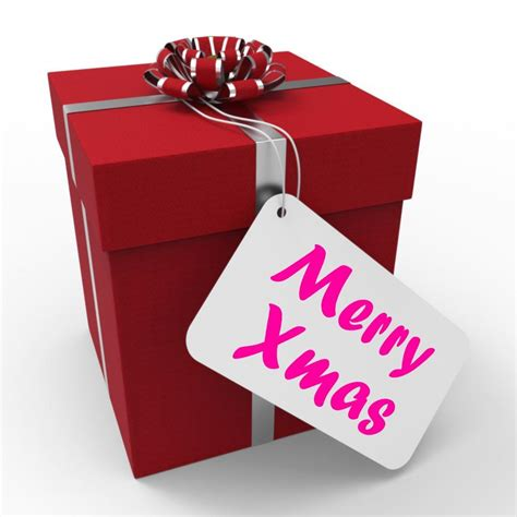 stock   merry xmas gift means happy christmas
