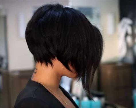 stacked asymmetrical haircut 35 modern short haircuts for thick hair peinado de trenza