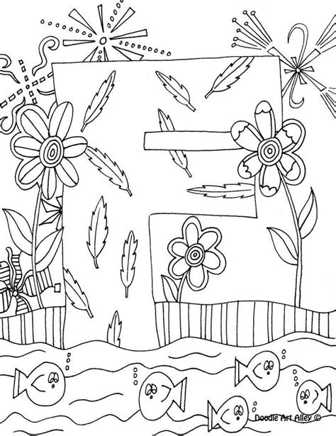 printable doodle letters doodle art coloring pages coloring home