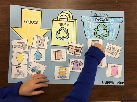 kindergarten activities recycling free printable recycling sort used 3 ways simply kinder