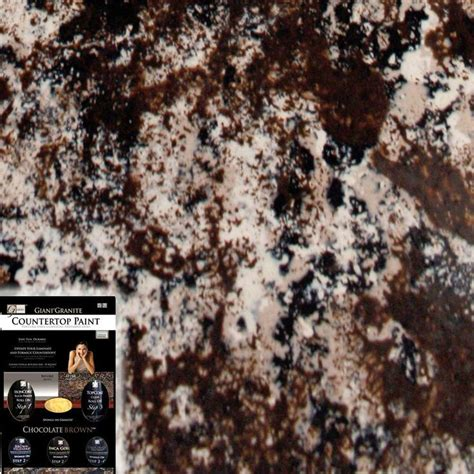 giani granite chocolate brown countertop paint kit paint