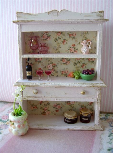 shabby chic miniature rose hutch treasury by