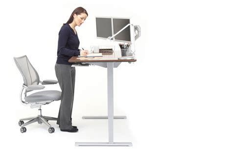 humanscale sit stand desk float humanscale s height adjustable sit stand