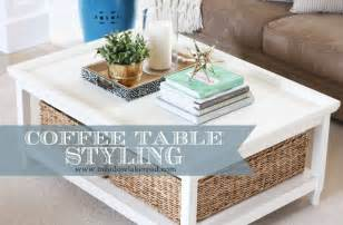 Styling A Coffee Table by How To Style A Coffee Table Meadow Lake Road