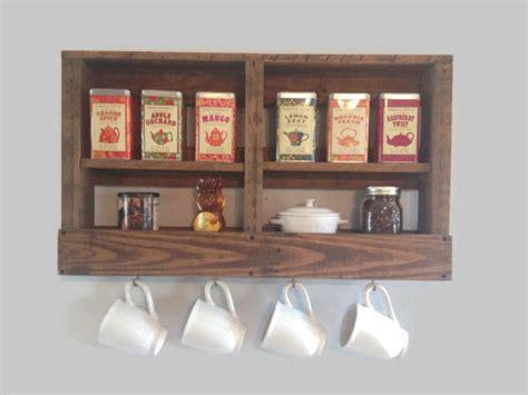 Tea Rack by Rustic Wooden Coffee And Tea Rack Coffee Bar By