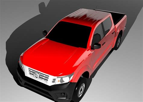 nissan suv 2016 models 3d model nissan np300 2016 double cab vr ar low poly