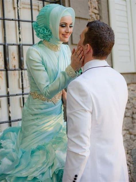 1707026 Pink Gaun Pengantin Wedding Gown Dress gaun pengantin muslimah biru 7 busana pengantin muslimahs and pengantin