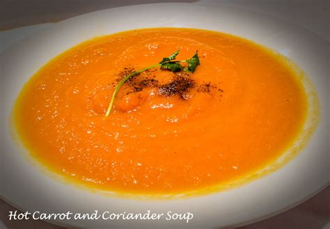 carrot and soup carrot and coriander soup