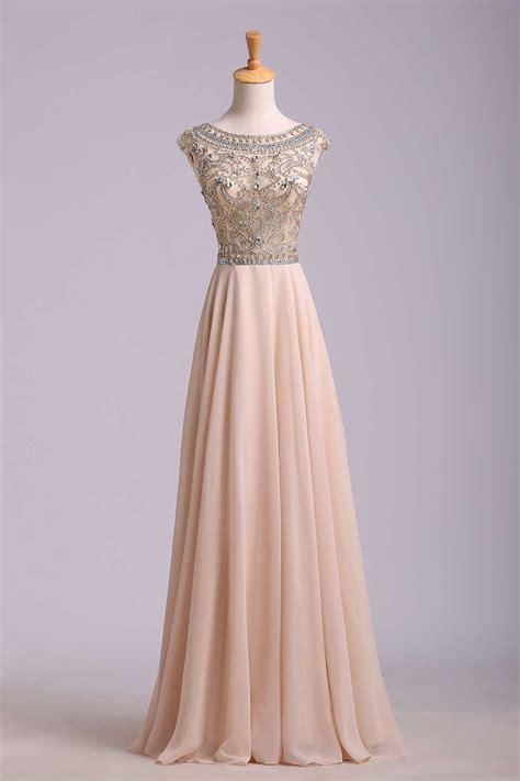 cheap beaded prom dresses custom cheap a line beaded bodice low back chiffon