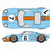 124 Ford GT40 1969LM Gulf Decals Fujimi  SHK D236