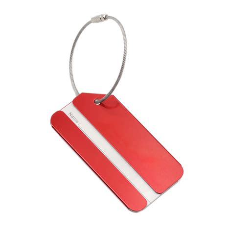 Name Tag Id Tas Koper Aluminum Metal Travel Luggage Bags Tag Silver 1 4 pcs aluminum travel id tags luggage baggage suitcase name address holder new ebay