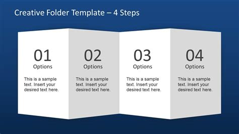 brochure 4 fold template creative folder template layout for powerpoint slidemodel