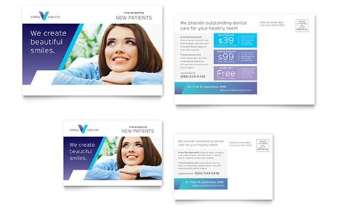 Dentist Postcard Template Design Dental Postcards Templates