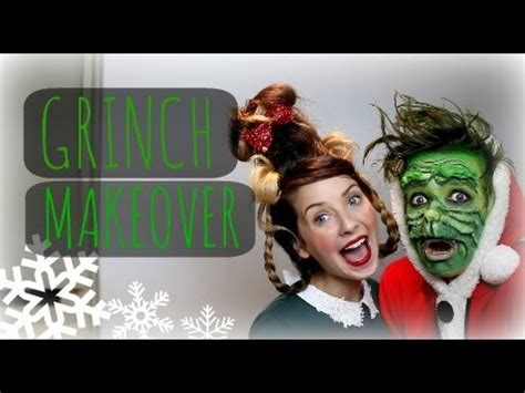 grinch makeup tutorial zoella the grinch makeover with zoella thatcherjoe youtube