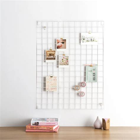 white wire mesh memo board by block design
