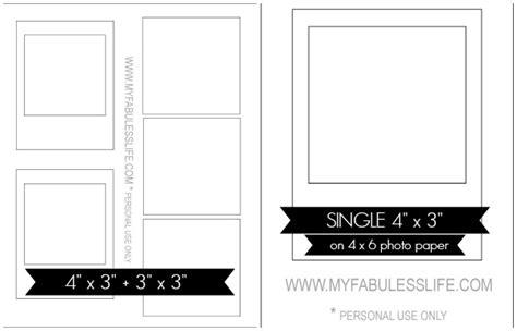 how to print your own instagram photos free template