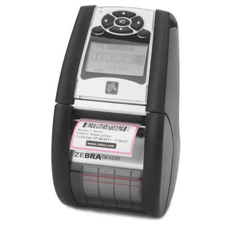 rugged portable printer buy zebra qln220 rugged yet lightweight 2 inch mobile printer the barcode warehouse uk