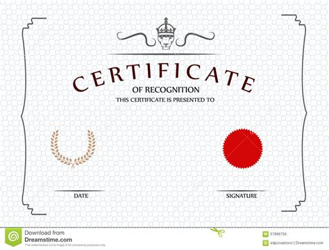 certificate template illustrator certificate template stock illustration image 57896756
