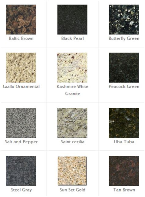 Granite Kitchen Countertop Colors by Most Popular Granite Colors Traditional Kitchen