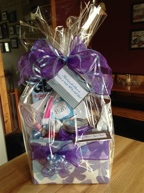 diy spa themed gift basket gift card to salon 828