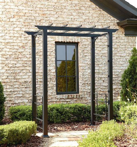 Outdoor Arbors And Trellises Metal Arbor With Flat Roof Shop Your Way