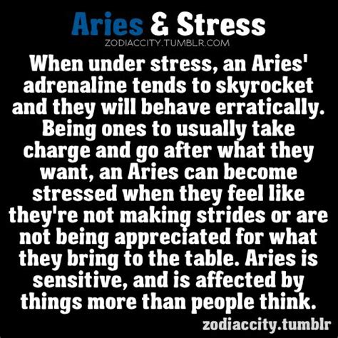 zodiac city aries and stress these things are generic and