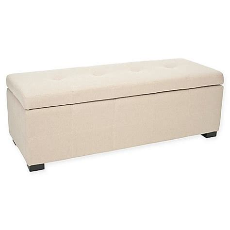 buy storage bench buy safavieh maiden large storage bench from bed bath beyond
