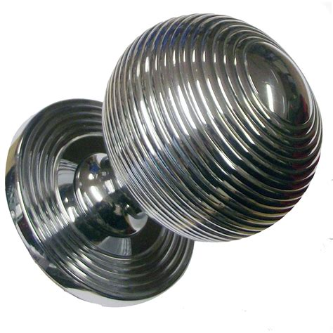 Chrome Door Knobs Snobsknobs Brton Chrome Beehive Centre Knob Snobsknobs