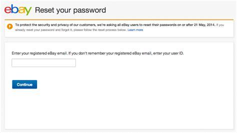 ebay email address how to change your ebay password pc advisor