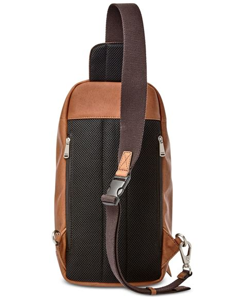 Fossil Miller 1032 Fs fossil miller leather crossbody backpack in brown for