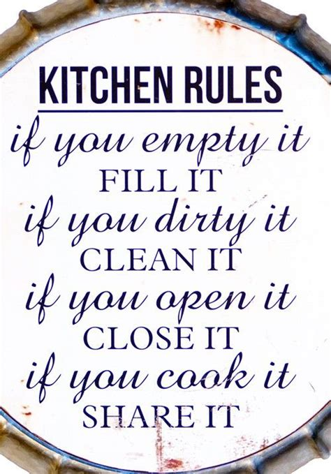 ideas  kitchen rules  pinterest family rules printable cell id  wall art