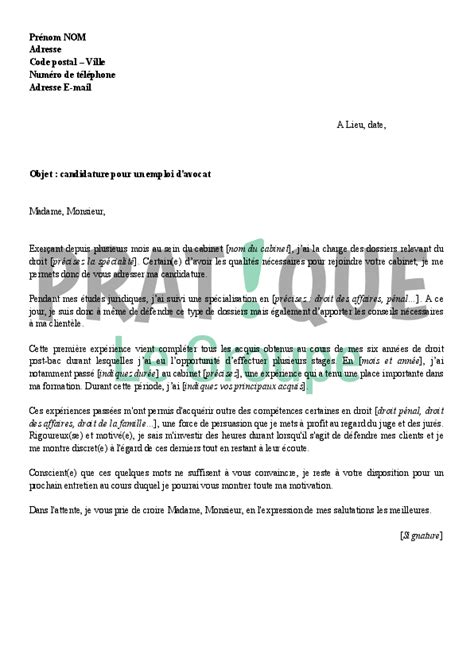 Lettre De Motivation Stage Cabinet D Avocat by Lettre De Motivation Stage Cabinet Avocat