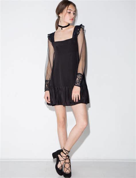 kate mini dress pixie market kate mini dress by and lemons in black