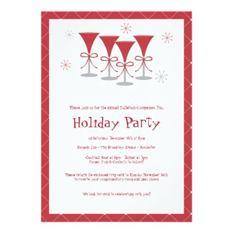 christmas cheer holiday cocktail party invitation zazzle