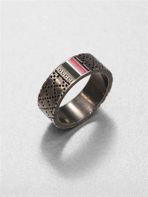 gucci sterling silver ring in metallic for lyst