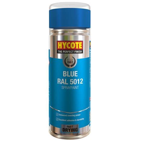 hycote blue ral 5012 spray paint aerosol 400ml ebay